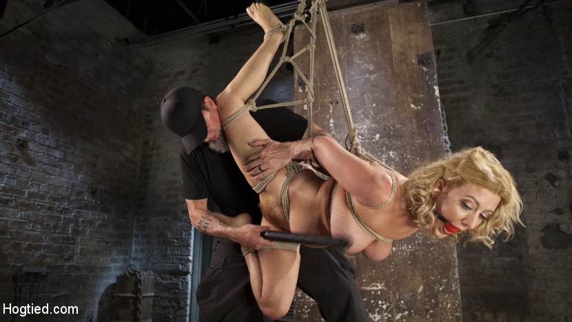 Cherry torn returns to hogtied. Cherry is a fuck bondage legend, and we have her back at Hogtied.com!! She is one of the hottest and toughest girls in the industry and even though she has been playing the dominant role on other sites, she's still just a pain bitch to us. She is put in grueling bondage and punished with sadistic torment. She suffers so beautifully for all of us to enjoy and this is one of her best shoots to date!!