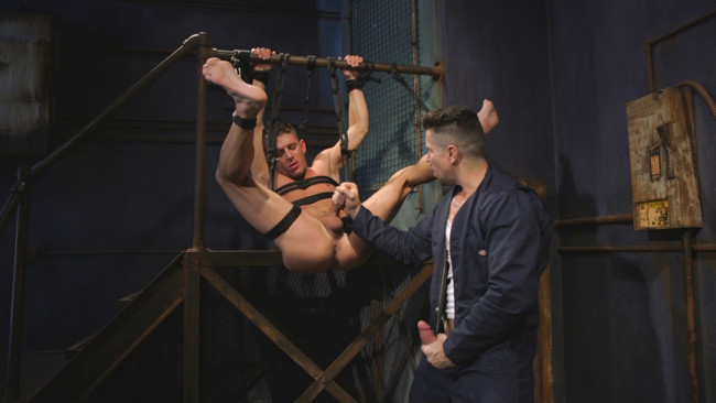 Bound Gods - Trenton Ducati - Alexander Gustavo - Anal Whore taken for a Candlelit Night of Hot Wax and Hard Flogging #14