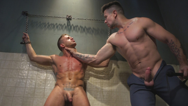 Bound Gods - Trenton Ducati - Alexander Gustavo - Anal Whore taken for a Candlelit Night of Hot Wax and Hard Flogging #15