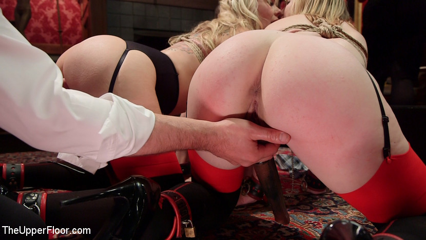 Battle of the senior slaves. Senior slaves Simone Sonay and Ella