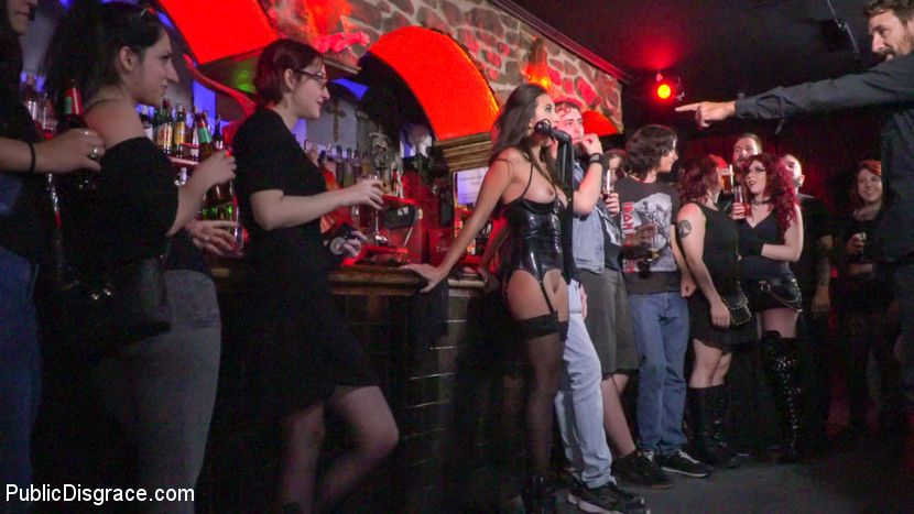Underground goth club turns into a wild have intercourse party.