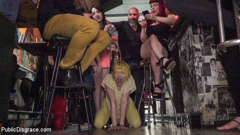 Spanish bar turns into a filthy have sex party part 2. Part 1 - Spanish slut is disgraced like a pig!Nerea Falco is ready to be disgraced. But little does she know Max Cortes & Liz Rainbow are there to turn this slut into a have sex pig! Suspended in rope bondage, Max & Liz both take turns aggressively slapping the have sex out of Nerea Falco until she learns how to properly squeal like a pig. Once they let her down, she is then made to worship & lick Liz's libidinous high heals & feet. Every pleasant pig needs an butt tail, which is shoved down this sluts tight anal hole. She is then made to crawl on her hands & knees in front of a crowded park.Part 2 - Spanish Bar turns into a Filthy fuck Party!Nerea is dragged into a filthy bar & is soaked in freezing cold water. She is then made to lick up & scrub clean the dirty floors with her body & tongue. The bar goes wild! Patrons get their libidinous hands all over these sluts. Even Liz gets her clothes torn off & gets into the action! ass eating, hair pulling, face spitting, aggressive deep throat, cruel butt, this bar gets it all! Dicks are pulled out & sucked off, lesbian tits come out & get slapped! Champagne is sprayed over everyone! Finally Nerea is drenched in thick cum, while a hot bar patron wipes it all over her filthy face.