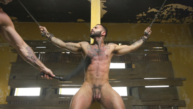 Bound Gods - Rikk York - Trenton Ducati - Rikk York Loves to Lick Leather while being Chained and Flogged #5