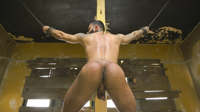 Bound Gods - Rikk York - Trenton Ducati - Rikk York Loves to Lick Leather while being Chained and Flogged #6