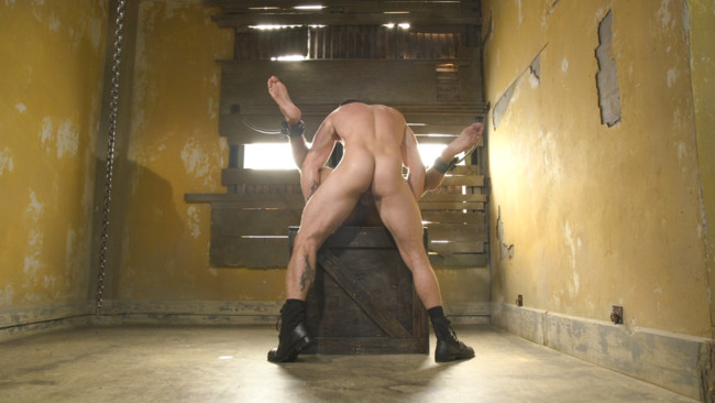 Bound Gods - Rikk York - Trenton Ducati - Rikk York Loves to Lick Leather while being Chained and Flogged #7