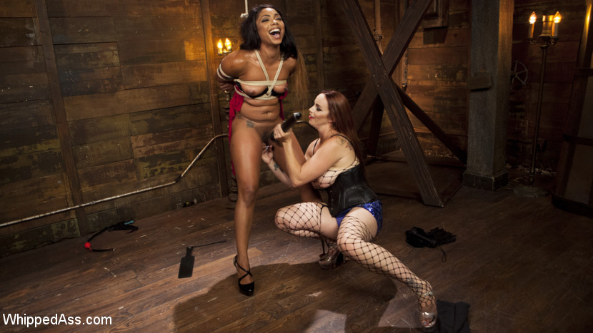 Dominatrix bella s new toy. Mistress Bella Rossi breaks in another horny obedient slut with rope and chain bondage, spanking, flogging, caning, face sitting, kitty licking, a zipper, and kitty and bum strapon fucking!
