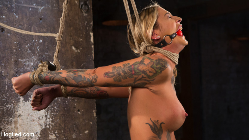 Alt tattooed pain bitch submits in grueling bondage. Kleio is fast becoming one of The Pope's favorites. She is a elegant girl who loves to be tied in brutal bondage and suffer for him. She quivers at the thought of his domination, and her cunt becomes moist when she submits to his sadistic desires. This slut is willing to do almost anything just to get the attention she needs from the only man in the world that she will submit to.