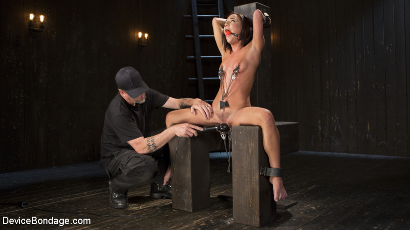 Fresh meat amara romani is dominated in inescapable bondage. Amara is a new face to Device Bondage, but has been making the rounds here at the castle. She is a small, petite, yet feisty little slut that is willing to endure a lot to suffer for The Pope. She takes double clamps on her kitty and nipples with excessive weight added to them just to earn her first of many orgasms. Her body is assaulted with large floggings, whippings, and spankings. Breath control just makes her kitty get wetter and wetter as the day goes on. She is turning out to be a appealing little pain slut, but we may have to bring her back for further inspection.