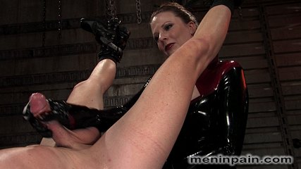 Rick hunt and lady lydia mclane. Latex Goddess humiliates slave boy