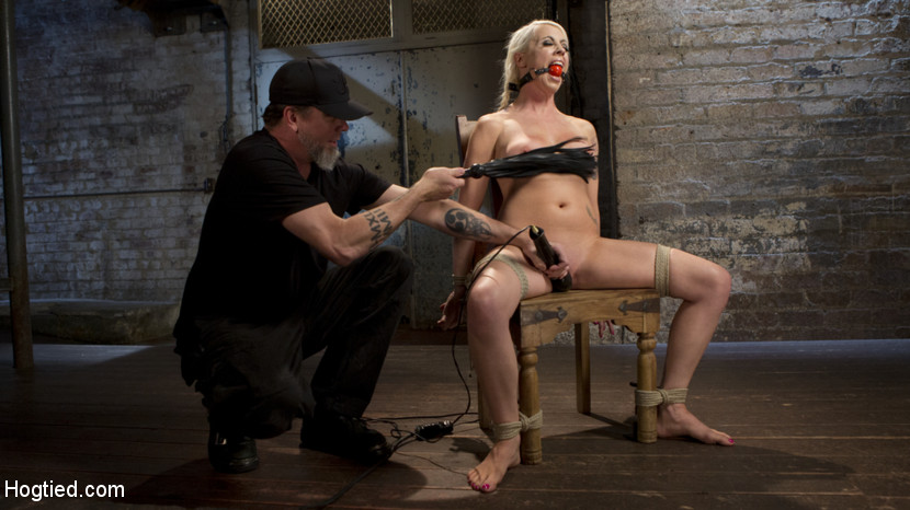 Lorelei lee submits to extreme bondage and grueling anguished.  Lorelei is a blonde Goddess and there are very few places that you can watch her submit to a man. The list is short and The Pope is number one on that list. She is put in some grueling bondage and then tormented. She wants it to be a tough day that pushes her and that is exactly what she is going to get.