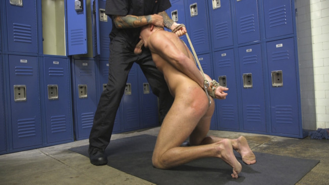 Bound Gods - Brian Huggins - Christian Wilde - Straight Boy in the Locker Room is Abducted and Fucked! #4