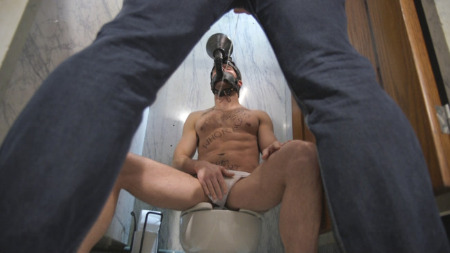 Bound Gods - Connor Patricks - Max Cameron - Hung stud finds a dirty bathroom pig to worship his giant cock #2