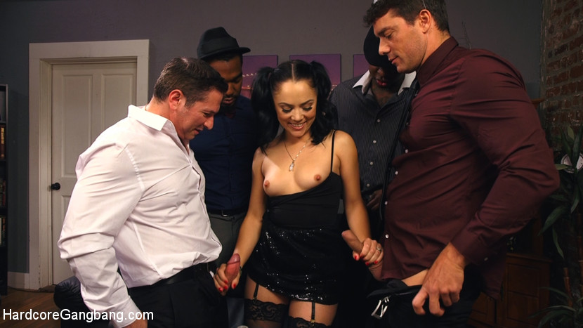 Cheating wife caught punish by 5 cocks. Perky wife Kristina Rose is ready to party rough for New Year's Eve while her boring husband is out at a work event. She invites her best and biggest cocked guy friends over for a celebration and puts on her sluttiest tight black party dress for them to rip off. Luckily these men brought the rough cock party favors for her to sucks on! She expertly takes on 4 cocks before her husband gets home and finds her cheating. Turns out he's just upset he wasn't invited to the double penetration, anal, face slapping, rough fucking, deep throat, gang bang fuck party! What a way to pound in the new year!