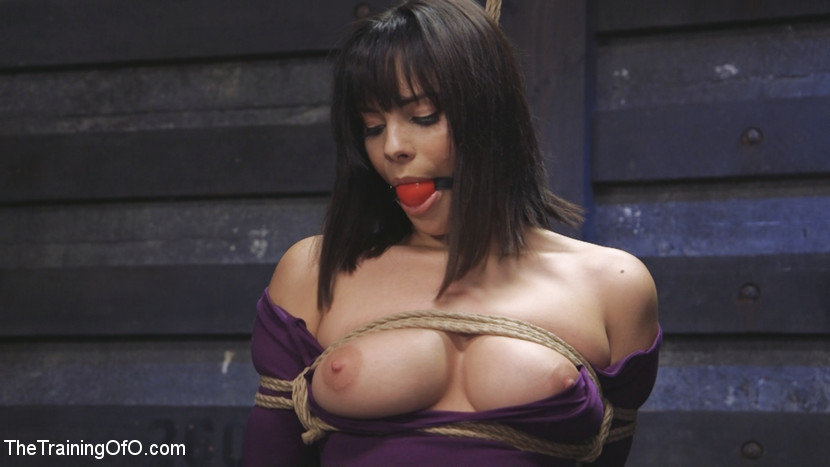 Voluminous boobs tight dress high heels new slave training