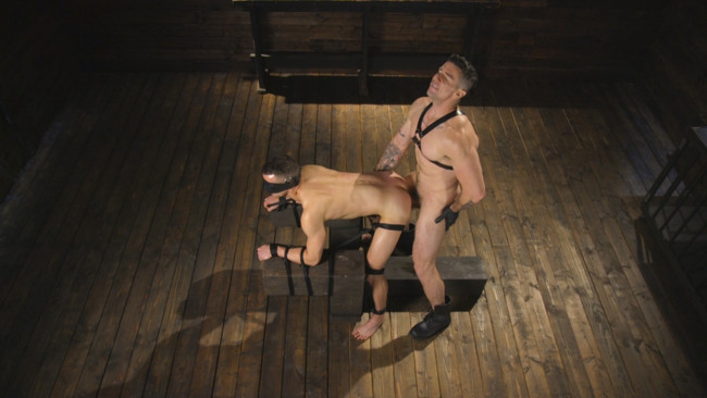 Bound Gods - Trenton Ducati - Nate Grimes  - New boy with a big cock at Mr Ducati's mercy #11