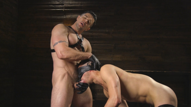 Bound Gods - Trenton Ducati - Nate Grimes  - New boy with a big cock at Mr Ducati's mercy #13