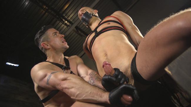 Bound Gods - Trenton Ducati - Nate Grimes  - New boy with a big cock at Mr Ducati's mercy #7