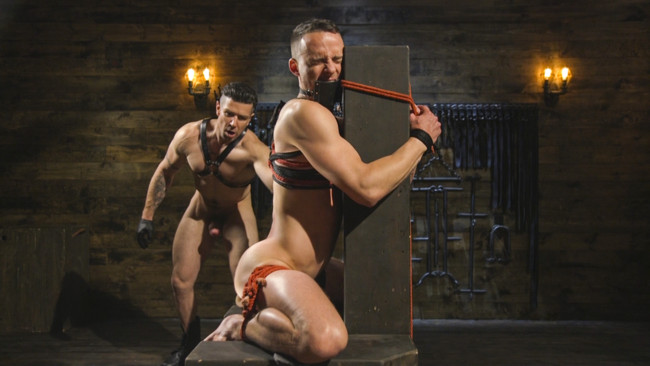 Bound Gods - Trenton Ducati - Nate Grimes  - New boy with a big cock at Mr Ducati's mercy #8