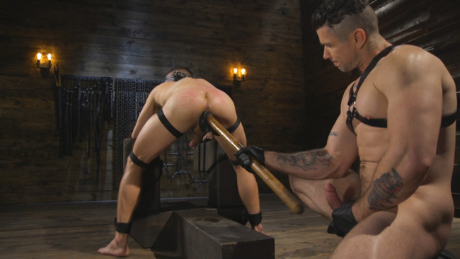 Bound Gods - Trenton Ducati - Nate Grimes  - New boy with a big cock at Mr Ducati's mercy #9