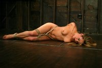 20 year old gets tightly bound, and made to cum over and over.