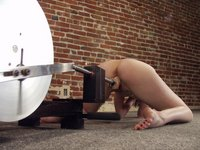 After the initial shyness Kendra experiences machine pleasures.
