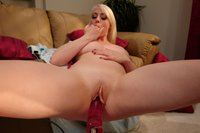 Lorelei Lee gets machine fucked in the ass and pussy.