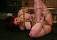 Lesbian BDSM with hard punishment and suspension bondage