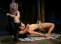 Sexy big tit Asian Gianna Lynn gets sexually dominated by Isis.