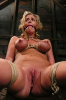 Hot MILF with HUGE nipples, gets bound and made to cum.