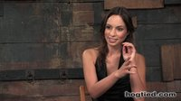 Amber Rayne bound and giving great head.