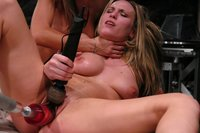 Harmony, Sammie Rhodes pussy and ass fuck with fast machines.