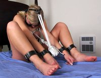 Rhiannon gets chained up and tortured ; )