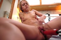Kylie Wilde gets a  pussy pounding machine fuck till she squirts.