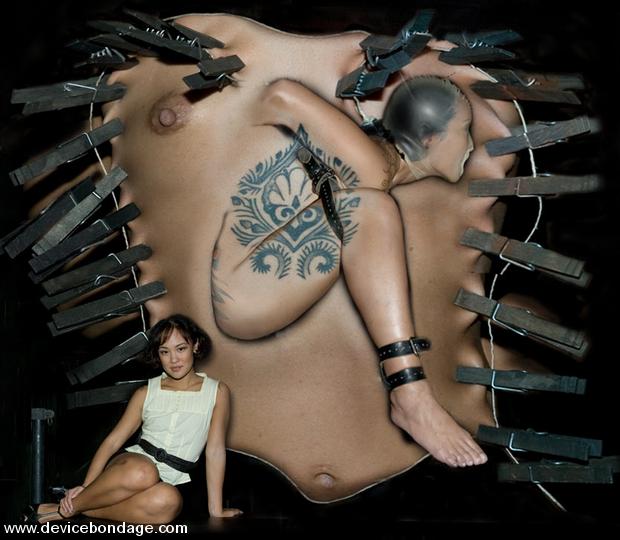 Jandi Lin explodes hardcore asphyxiation bondage orgasm heaven.