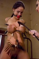 Young and busty girl punished and fucked by dominatrix.