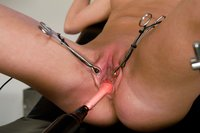 Jaelyn gets examined by a kinky docor with electrifying toys!!