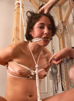 Lesbian rope bondage with Asian domme.