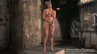 Huge titted blond, bound, punished and made to cum!