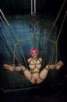 Caged, hooded, suspended slut!