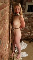 Cute girl gets tied up and hosed down.