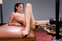 Amber Rayne gets plugged in both holes by fast fuckingmachines