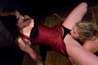 Lesbian bondage and sex.