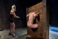 Maitresse Madeline gives Vendetta an extreme caning and a strap-on fucking of a life time!