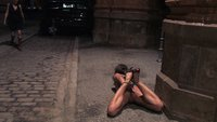 Czech beauty throat fucked in a subway station at night