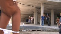 Beautiful Romanian girl Lucy Belle gets fucked in public