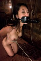 Hot Asian in Lesbian BDSM action.