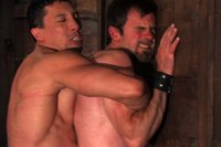 Bound God Romario Faria is tied up, but turns the table by fucking his captor, slave dante.