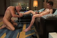 Two hot studs play hard and fuck hard, BDSM-style.