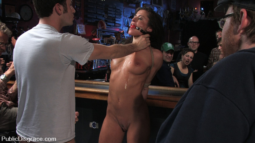 Slave tied up and fucked