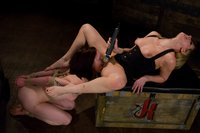 Nina cries from painful domination by Maitresse Madeline.